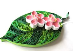 Quilling Leaf Cherry blossom tree leaves spring decorations