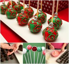 Wonderful DIY Christmas Ornament Cake Pops / WonderfulDIY.com