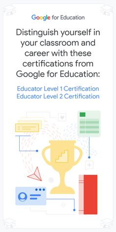 The Google for Education Educator Level 1 and Level 2 certifications are a great way for educators to begin their #PD journey. Education Certificate, Teacher Hacks, Google Classroom, Journey, Tutorials, Student, How To Plan, Learning, Board