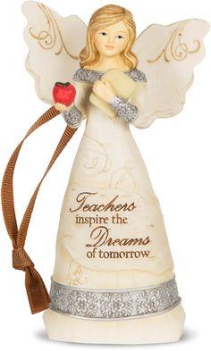 Teacher Angel Ornament Product Description Teachers inspire the dreams of tomorrow 4.5″ Angel Ornament