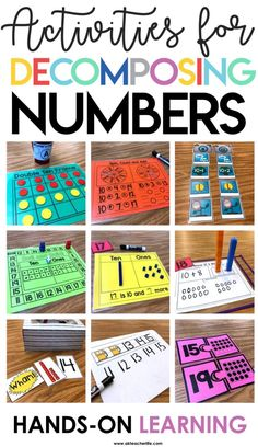 Hands-on activities for decomposing teen numbers into ten and some ones