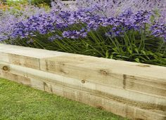 New softwood railway sleepers look great and are an easy way to create raise vegetable and herb gardens. #GrowYourOwnVeg