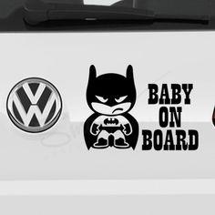 Alege stickerul auto Sticker Batman Baby on Board pentru decorarea masinii tale si aranjeaza-le intr-un mod creativ. Masina ta va iesi in evidenta in trafic. Aplicarea pe masina se realizeaza cu usurinta, nefiind necesara o experienta anterioara. Culoarea, marimea si textul stickerului o alegi tu si o pozitionezi oriunde a masinii. #stickerauto #stickerbabyonboard #batmanbabyonboard #autocolantauto #bebelabord #babyincar #batmancardecal #stickerpersonalizat #babyonboardpersonalizat Sticker Auto, Car Decals, Baby Batman, Stickers, Decor, Decoration, Car Decal, Decorating, Decals