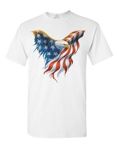 825c9da676 Buying Choices  Shop4Ever Eagle USA Flag T-shirt 4th of July Shirts