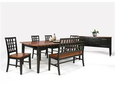 Shop for Intercon Lattice Back Bench  and other Dining Room Benches at  Woodchucks Fine Furniture   Decor in Jacksonville  Florida  The Arlington  Collection  Distressed wood console table with a fold out top and scrolling  . Arlington Round Sienna Pedestal Dining Room Table W Chestnut Finish. Home Design Ideas