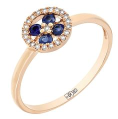 b810be6aeaaa Купить украшение — Кольцо с бриллиантами и сапфиром всего за 10320 руб. в  ювелирном магазине МАГИЯ ЗОЛОТА