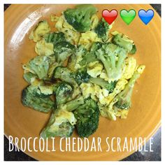 21 Day Fix Approved Breakfast Recipes = Broccoli Cheddar Scramble