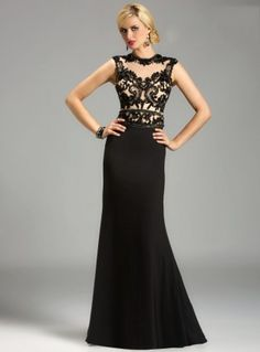 Exquisite Sheath Straps High Neck Soft Cap Sleeve Lace Satin Mother of the Bride Dress