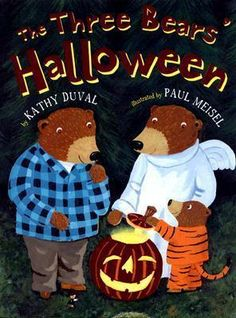 """Boo! It's finally Halloween. Baby Bear is trick-or-treating with Mama Bear and Papa Bear. As the bears come up to the very scary house, they notice that the door is open. Maybe they should go inside. But is that a """"Tee-hee-hee"""" coming from behind the bush? Could the three bears be in for a Halloween trick? Goldilocks gets a visit from the three bears in this spooky companion book to """"The Three Bears"""" Christmas."""""""