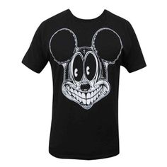 Spooky Mouse by Josh Stebbins Men's Black T Shirt Tattoo Tee Mickey's Face #GraphicTee