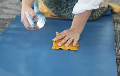 Make Your Own Yoga Mat Wash >> http://blog.diynetwork.com/maderemade/how-to/make-your-own-yoga-mat-wash/?soc=pinterest