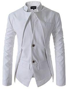 Showblanc(SBNJK7) Man's Chinese Collar Double Layered 2 Button Casual Jacket WHITE Medium(US Small) Showblanc http://www.amazon.com/dp/B00SKLFWJU/ref=cm_sw_r_pi_dp_O2E0ub1EZZ82R