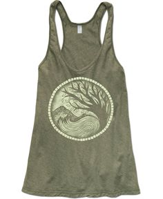 Recycled Yoga Tank Top: Soul Flower Clothing