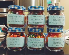 Cute Gift For Birthday Or Anniversary With Significant Other Creative Candy Jars The Boyfriend Girlfriend