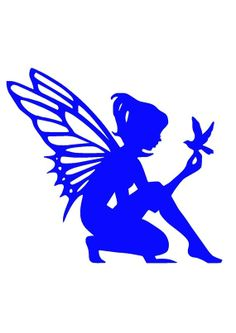 Glow In The Dark Fairy Decal Light Switch Decal Girl