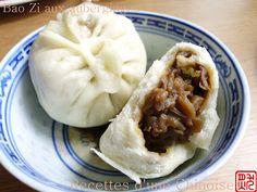 Recettes d'une Chinoise: Bao Zi et galettes aux aubergines 茄子馅包子及馅饼 qiézi xiàn bāozi jí xiàn bǐng - Vegan recipe