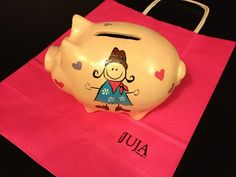 Ceramic moneybox Made by Juja.