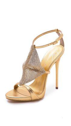 87036571ae0469 Giuseppe Zanotti Crystal Mesh Heels Strappy Heels