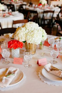 Chic Rustic California Wedding Decorated in Coral - MODwedding