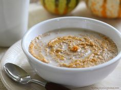 Pumpkin Pie Porridge - use almond milk instead of coconut and omit coconut flakes
