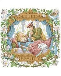 Orton Fairy tale sleeping beauty counted cross stitch
