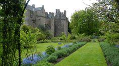 The walled gardens of Kellie Castle, near Pitenweem, Fife, Scotland.
