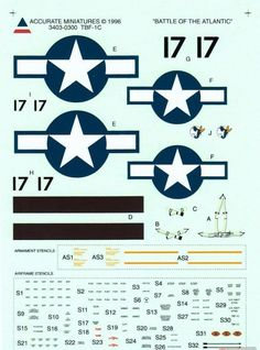 Accurate Miniatures Decals 3403 x Avenger E Bay, Chevrolet Logo, Stencils, Avengers, Decals, Miniatures, Logos, Vehicles, Aviation Art