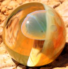 Mushroom Marble by BCMGlass on Etsy, $6.00