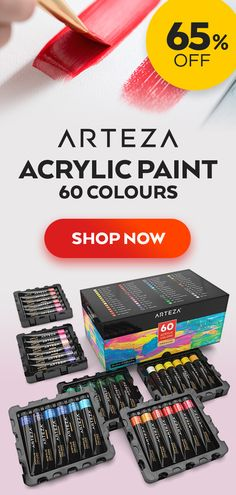 ⭐️⭐️⭐️⭐️⭐️ Get this Amazing Acrylic Premium Artist Paint by ARTEZA® at 65% OFF