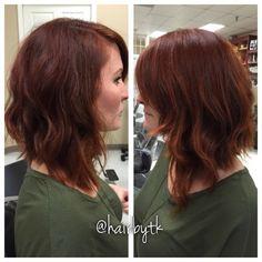Asymmetrical lob Bob Haircuts, Short Hairstyles, Beautiful Brown Hair, Good Hair Day, Dream Hair, Lob, Skin Makeup, Haircolor, Hair Ideas