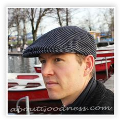 Gatsby hat, flat cap FREE pattern and tutorial