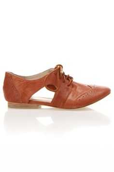 Toffee Leather Oxfords