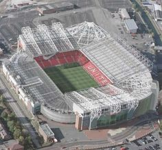 Old Trafford stadium is the home of the infamous Manchester United football club; the stadium itself is a completely seated stadium meaning that there are no places available for spectators who wish to stand. Soccer Stadium, Football Stadiums, Football Soccer, Football Fever, Football Tops, Stadium Tour, Basketball, Old Trafford, Stadium Architecture