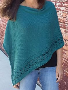 Rosaliette Poncho pattern by Martha Wissing, designed using Berroco Modern Cotton. © Martha Wissing