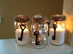 Holiday mason jar idea with epson salt or ornaments!