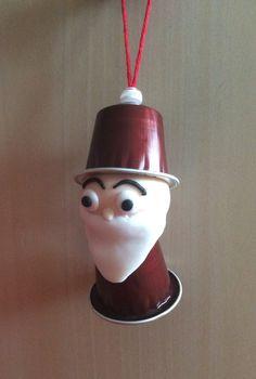 """Décoration pour sapin de Noël """"Papa Noël"""" capsule Nespresso"""