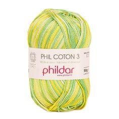 Phildar Phil Coton 3   Knitting Yarn & Wool   LoveKnitting Christmas Knitting Patterns, Crochet Patterns, Bag Patterns, Crochet Ideas, Aloe Vera, Sugar N Cream Yarn, Blue Sky Fibers, Universal Yarn, Lang Yarns