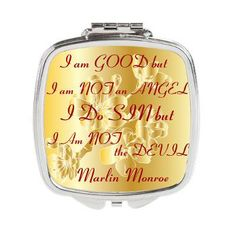 No Angel Square Compact Mirror