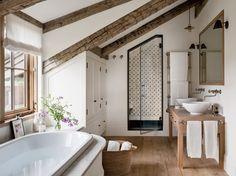 Rustic Bathroom by Kathleen Walsh and Mark Hutker in Martha's Vineyard, MA