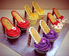 High Heel Cupcakes |saying that we will have to trade these in for running shoes