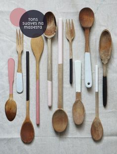 paint-dipped cutlery