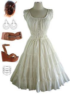 Peasant top maxi dress