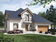 Urokliwa forma przekryta prostym dachem czterospadowym z lukarnami doświetlającymi pokoje na poddaszu.
