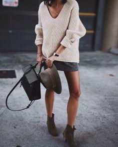 Acne Studios | deborah knit / Janessa Leone | alara hat / Isabel Marant | dicker boots http://beautifulclearskin.net/category/no-more-acne/
