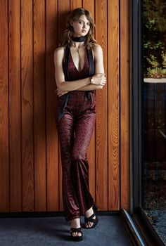 Urban Outfitters takes us back to the 1970s for its latest holiday lookbook called, 'The Other Side of Midnight'. Model Lindsey Wixson poses for Matt Jones in looks that are made for disco divas, bohemian princesses and funky babes. In the shoot, Lindsey has a very groovy holiday wearing glittering jumpsuits and rompers, sexy halter …