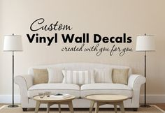 Custom Wall Quote Wall Art Wall Decal Vinyl by VinylDecorBoutique