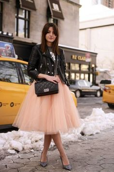 Apricot Tulle Skirt