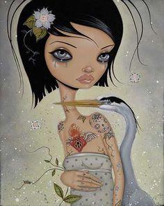 Doe-Eyed Cartoon Pin-Ups - These Caia Koopman Paintings Depict Tattoos & Femininity (GALLERY)