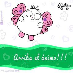 Arriba el ánimo! #guyuminos #frases #illustration #butterfly #mariposas