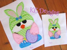 Easter Owl Fun 02 Machine Applique Embroidery Design  by KCDezigns